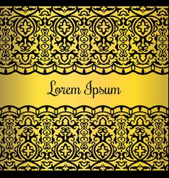 gold lace style card design vector image