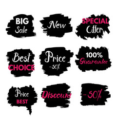 Grange texture sale banners price tag vector