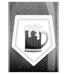 Grayscale glass beer icon image design vector