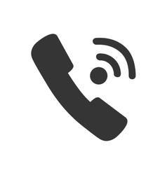 handset call phone calling icon graphic vector image