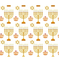Hanukkah seamless pattern Hanukkah background vector
