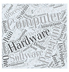 Hardware development and computer programming Word vector