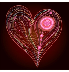 Heart line work vector