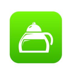 honey tea icon green vector image