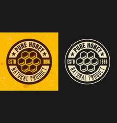 honeycomb set of two colored styles emblem vector image