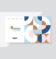 horizontal banner with simple geometric forms in vector image