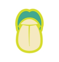 Icon of human tongue in flat style vector