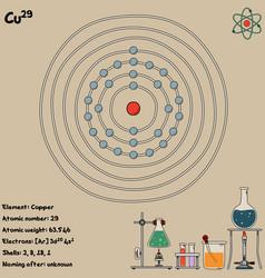 Infographic element copper vector