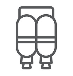 Jetpack line icon astronomy and technology vector