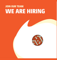 Join our team busienss company golfball we are vector