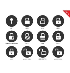 Lock icons on white background vector image