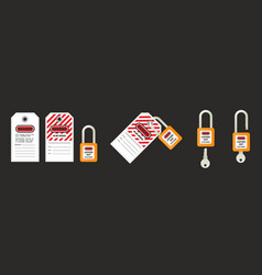 lock out tag out with a danger tag vector image