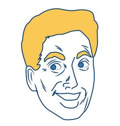 man face pop art cartoon vector image