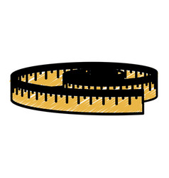 Measure tape icon vector