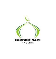 Mosque logo template design vector