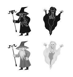 Mystic and hell icon set vector