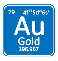 Periodic table element gold icon royalty free vector image urtaz Gallery