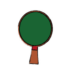Ping pong racket green wooden sport hobby vector