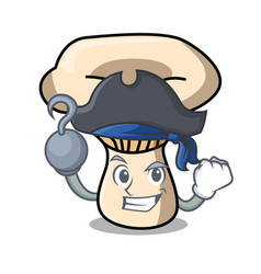 Pirate milk mushroom character cartoon vector