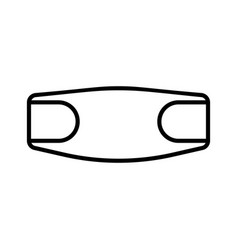 Pregnancy bandage linear icon supporting vector