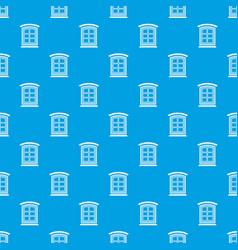 Retro window frame pattern seamless blue vector