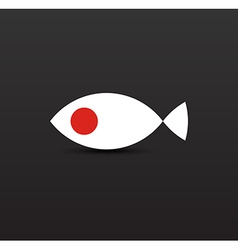 Salmon fish in colors of japanese flag vector
