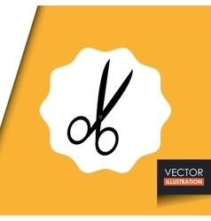 scissors icon design vector image vector image