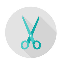 scissors tool circle icon vector image