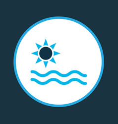 sea icon colored symbol premium quality isolated vector image
