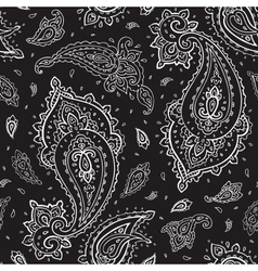 Seamless Paisley background Royalty Free Vector Image