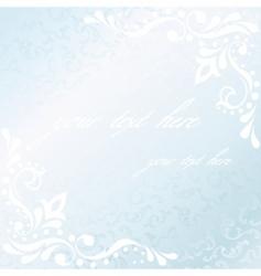 square Victorian white satin frame vector image