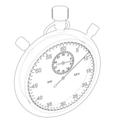 Stopwatch or timer sketch vector