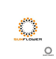 sunflower logo vector image