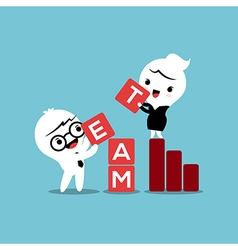 Team building activities business concept cartoon vector