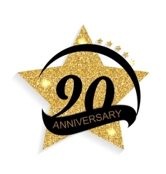 Template logo 90 anniversary vector