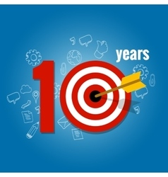 Ten years target and plan in business calendar vector