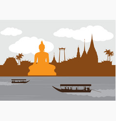 thailand landmark and travel vector image