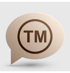 Trade mark sign Brown gradient icon on bubble vector image