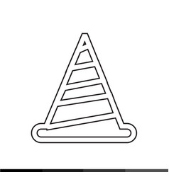 Traffic cone icon design vector