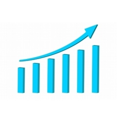 Up rising indication arrow Financial statistic vector image