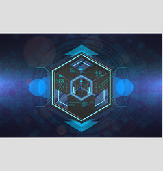 Vr futuristic gadget in hud style vector