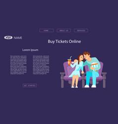 Website for cinema vector