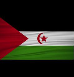 western sahara flag flag of western sahara vector image