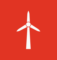 windmill icon power and renewable generator vector image