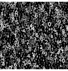 Abstract Seamless Background with Numbers vector image