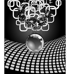 Abstract sphere with surface concept business vector