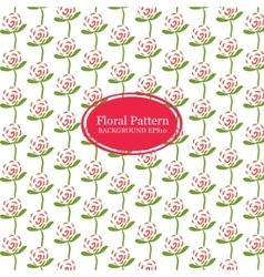 Rose flowers line pattern vector image
