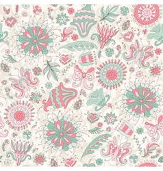 Seamless pink summer pattern vector image