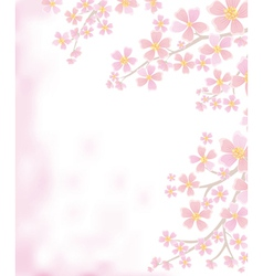 Spring background with flowering branches vector image vector image