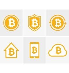 bitcoin logo Bitcoin icon Bitcoin cloud vector image vector image